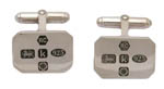 Carrs silver rectangular cufflinks
