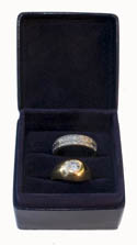 Navy Twin Ring Box