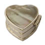 Silver Heart Mother-of-Pearl Box