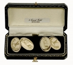 9ct Gold Double Oval Cufflinks