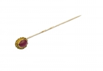 Ruby Stock Pin 9ct gold