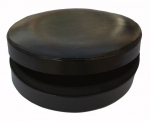 Black Oval leather box