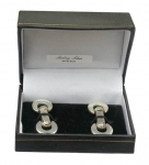 Sterling silver toggle cufflinks