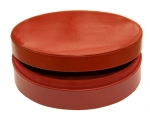 Red Oval Jewellery Box