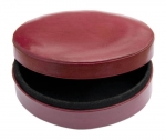 Dark Red Oval leather box