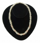 Five-strand Freshwater Pearl & Coral Necklace
