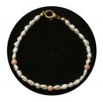 Freshwater Pearl & Coral Bracelet