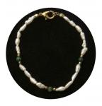 Freshwater Pearl & Green Malachite Bracelet