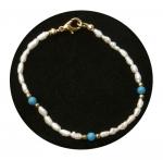 Freshwater Pearl & Turquoise Bracelet