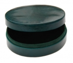 Green Oval  Cufflink Box