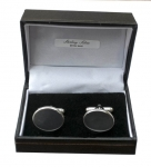 Plain Sterling Silver Oval Cufflinks with bars