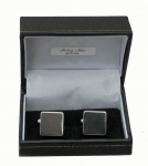Plain Sterling Silver Square Cufflinks with bars