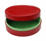 Red Oval Box with lime green lining
