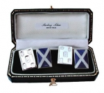 Sterling Silver Scottish Flag Cufflinks