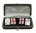 Sterling Silver English Flag Cufflinks