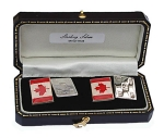 Sterling Silver Canadian Flag Cufflinks