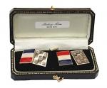 Sterling Silver French Flag Cufflinks