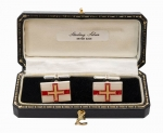 Sterling Silver Guernsey flag cufflinks