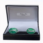 Sterling Silver & Enamel Golf Cufflinks