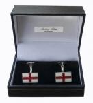Sterling Silver St George flag cufflinks