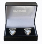 Sterling Silver Heart cufflinks
