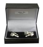 Sterling Silver Trowel & Fork cufflinks