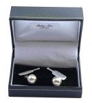 Sterling Silver Bat & Ball cufflinks