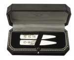 Sterling Silver Collar Stiffeners with feature hallmarks