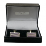 Sterling silver Purple enamel cufflinks