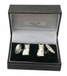 Sterling silver Sitting Cat cufflinks