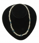 Triple-Strand Freshwater Pearl & Turquoise Necklace