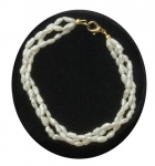 Triple Twist Freshwater Pearl Bracelet