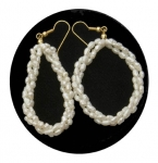 Triple Twist Freshwater Pearl Earrings